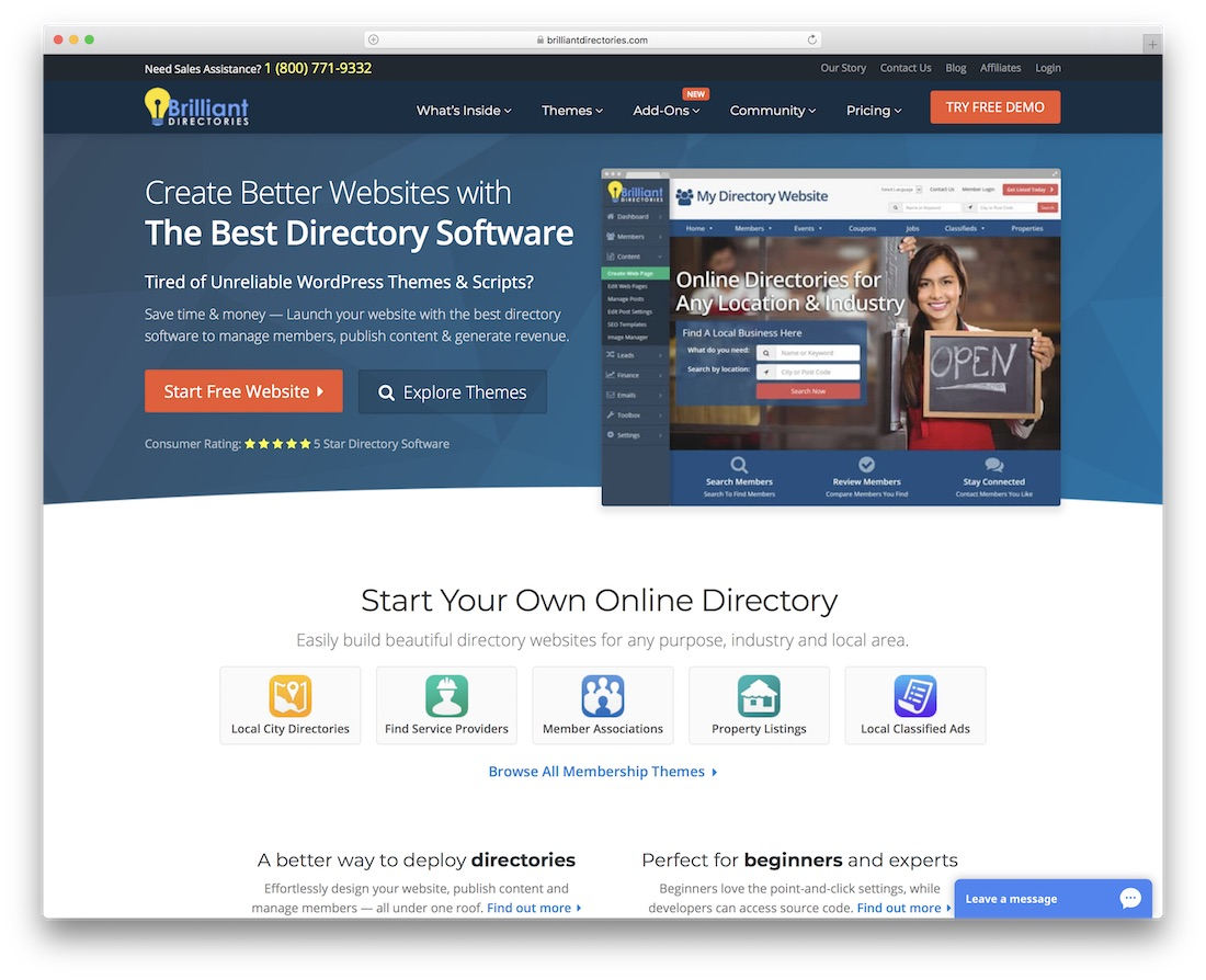 brilliant directories directory website builder