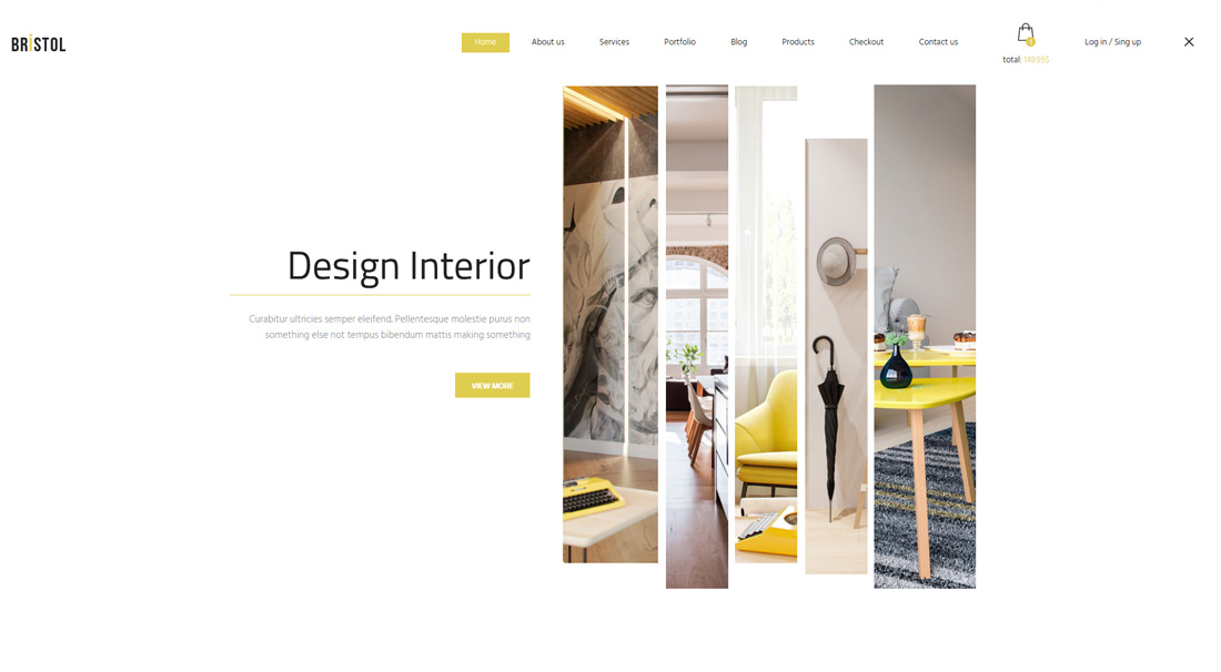 Bristol Is Also An E Commerce Based Interior Designing Website Template.  This Template Does Not Confuse You By Providing Multiple Homepage  Variations.