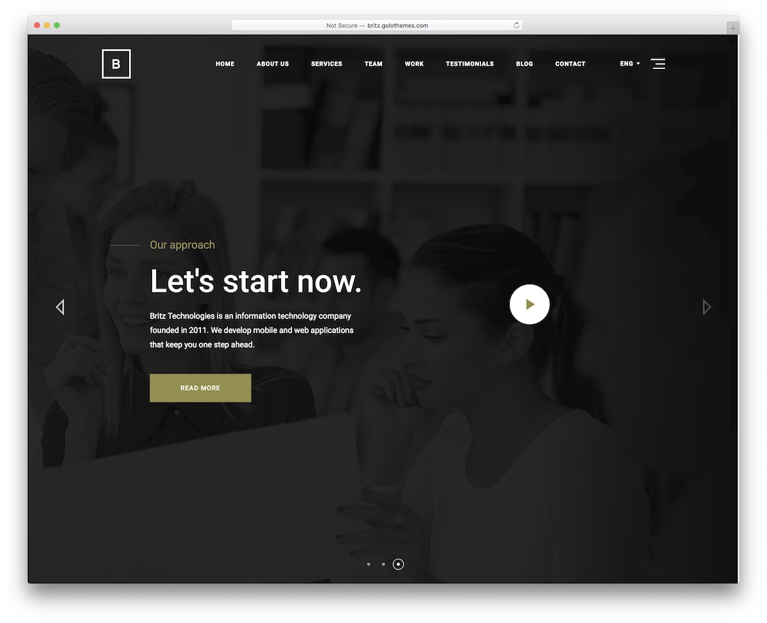 britz one-page business theme