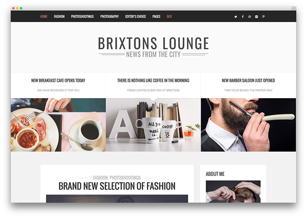 brixton is the quintessential theme for bloggers every element in its