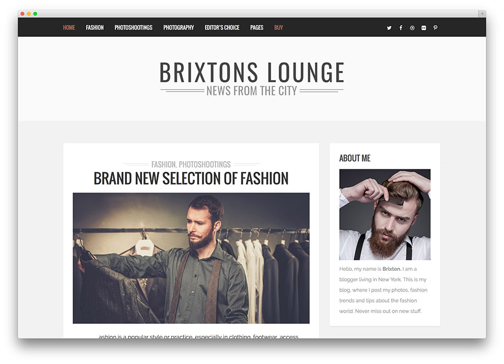 brixton - minimal blogging theme