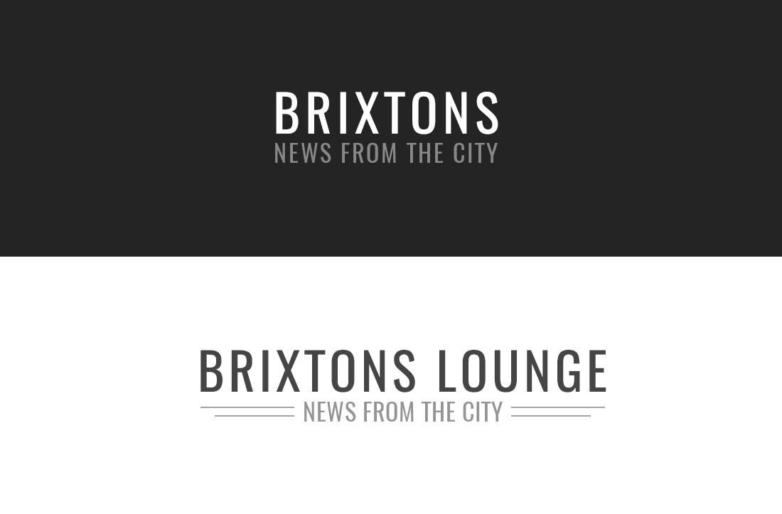 brixton psd logo free template