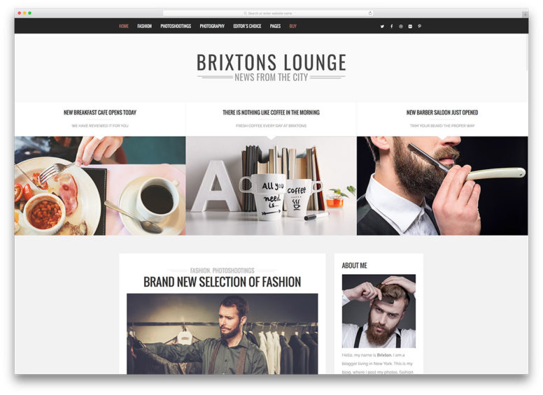 25 Beautiful Blogs Using Brixton WordPress Theme 2016