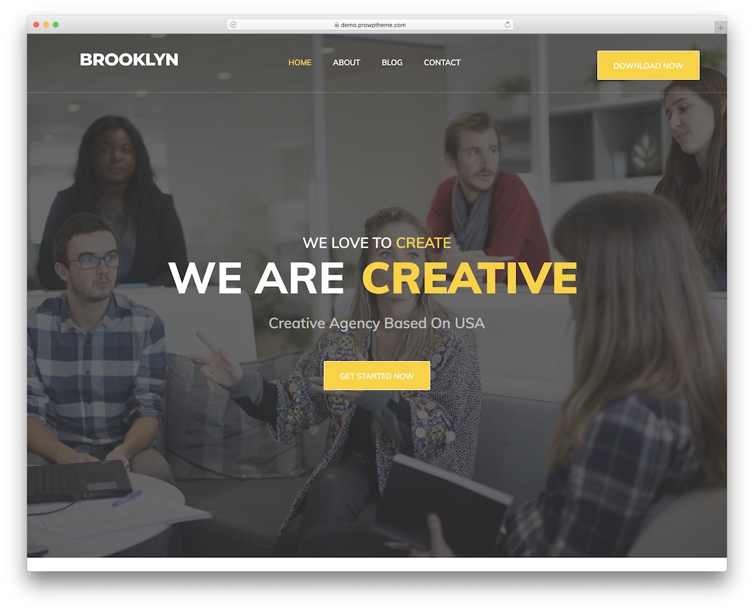 brooklyn lite free responsive wordpress theme