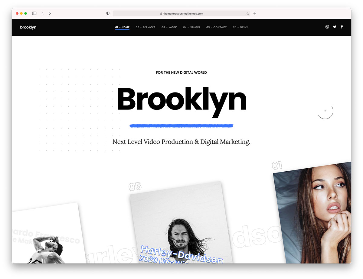 brooklyn - one page theme