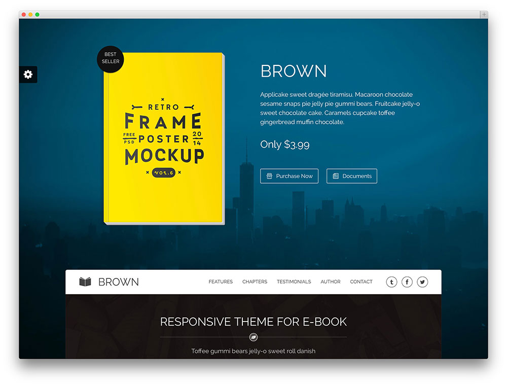 brown - one page ebook selling theme