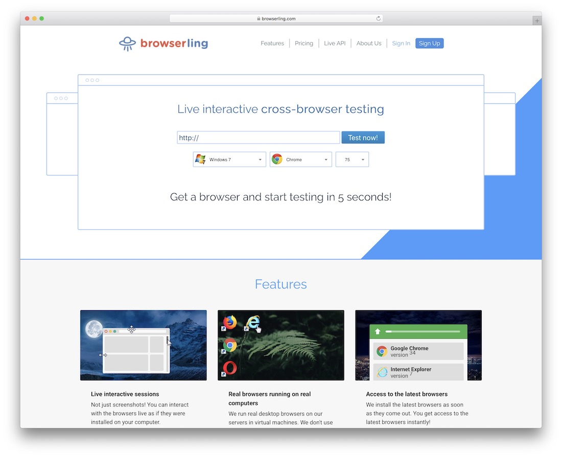 browserling code quality testing tool