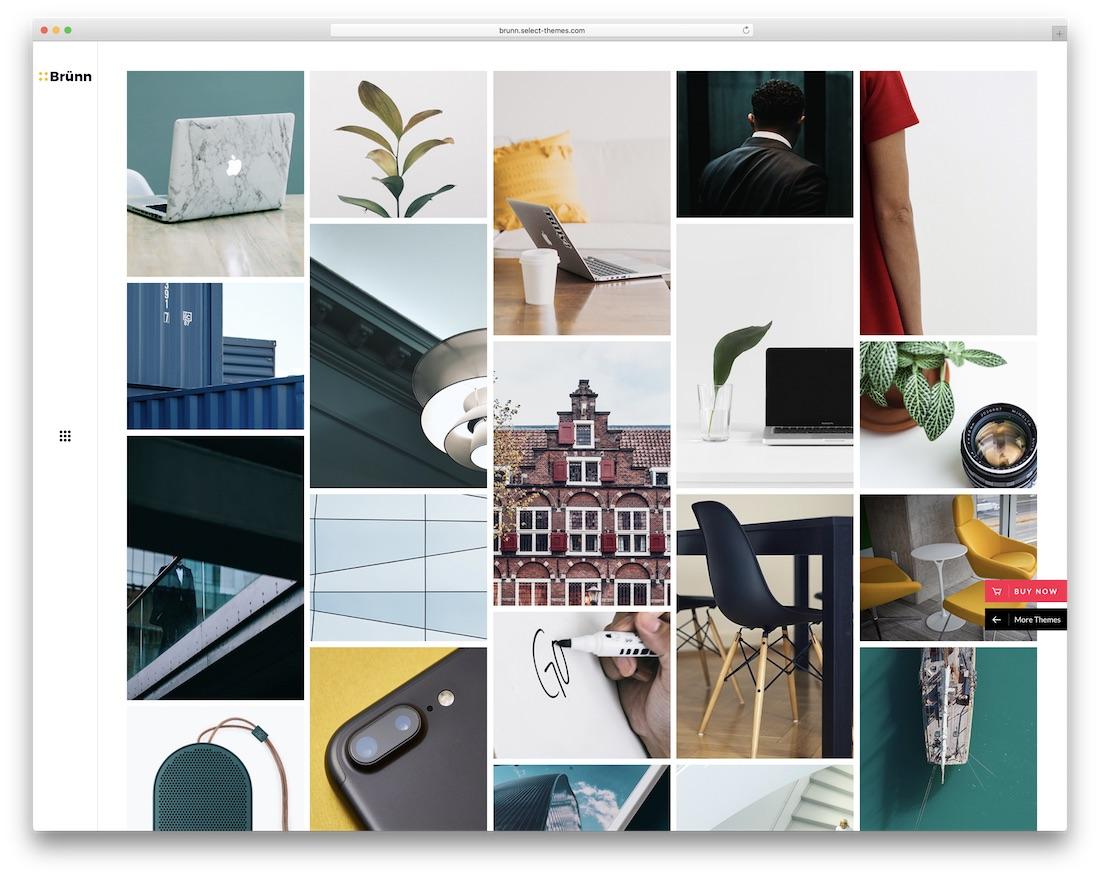 brunn creative wordpress theme