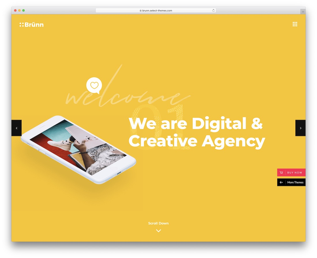 brunn wordpress business theme