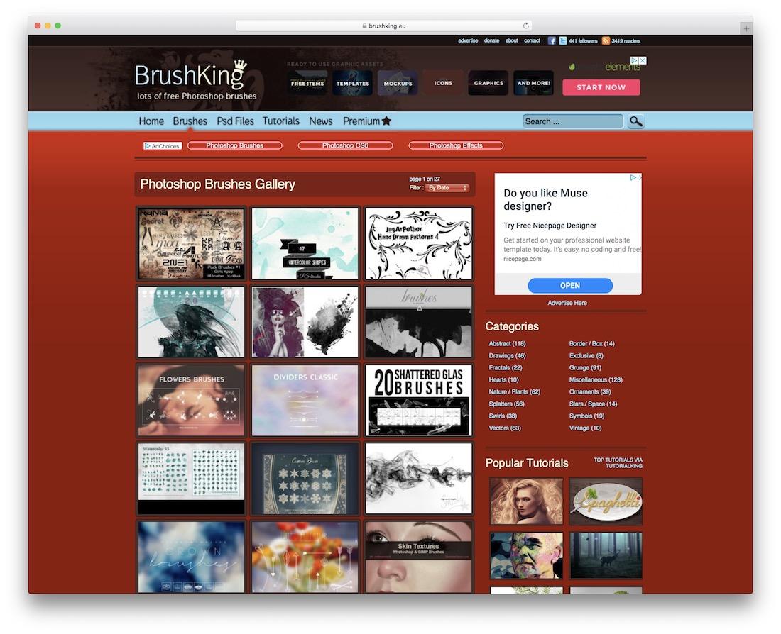 brushking free photoshop brushes