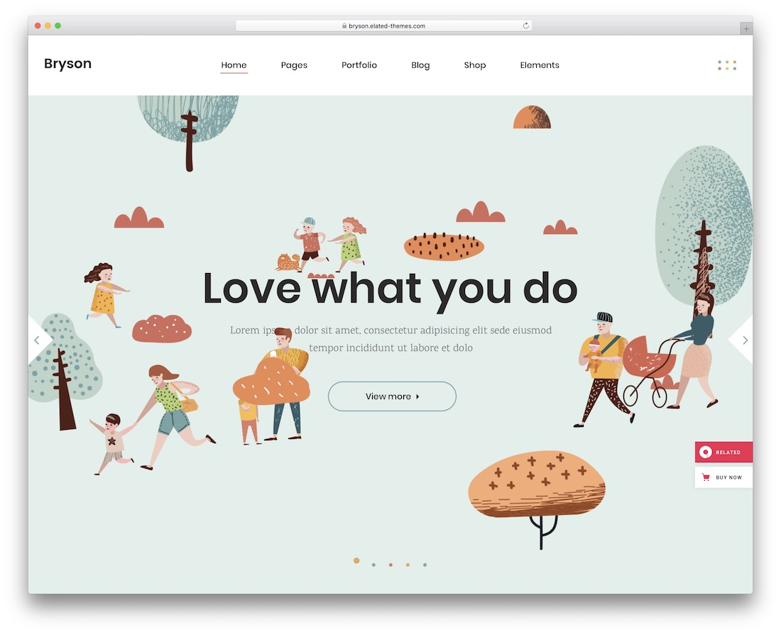 bryson art wordpress theme