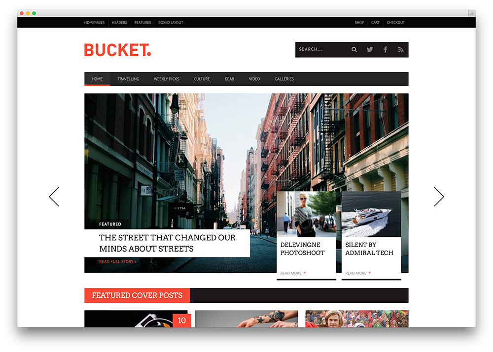 bucket clean magazine theme