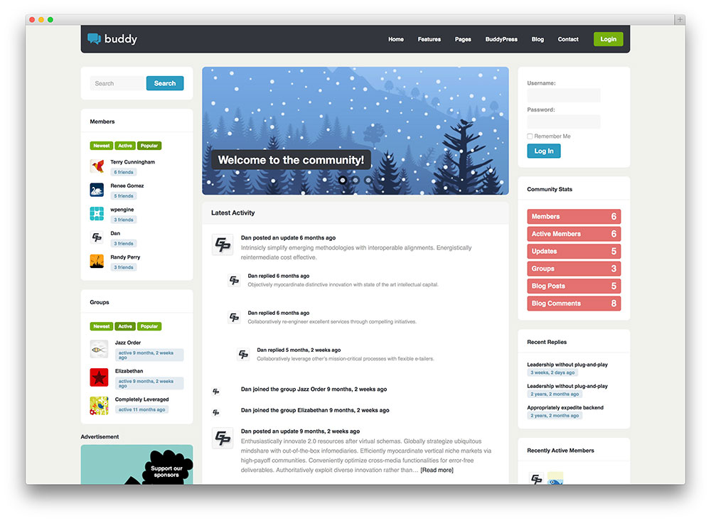 Best BuddyPress WordPress Themes for Community Sites 2018 - Colorlib