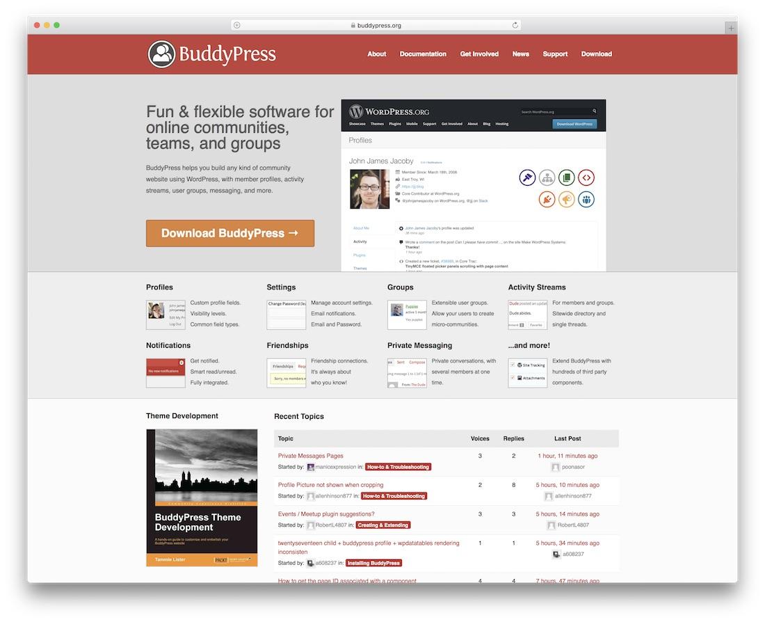 buddypress community website builder