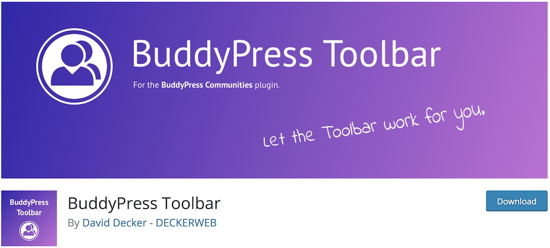 buddypress toolbar