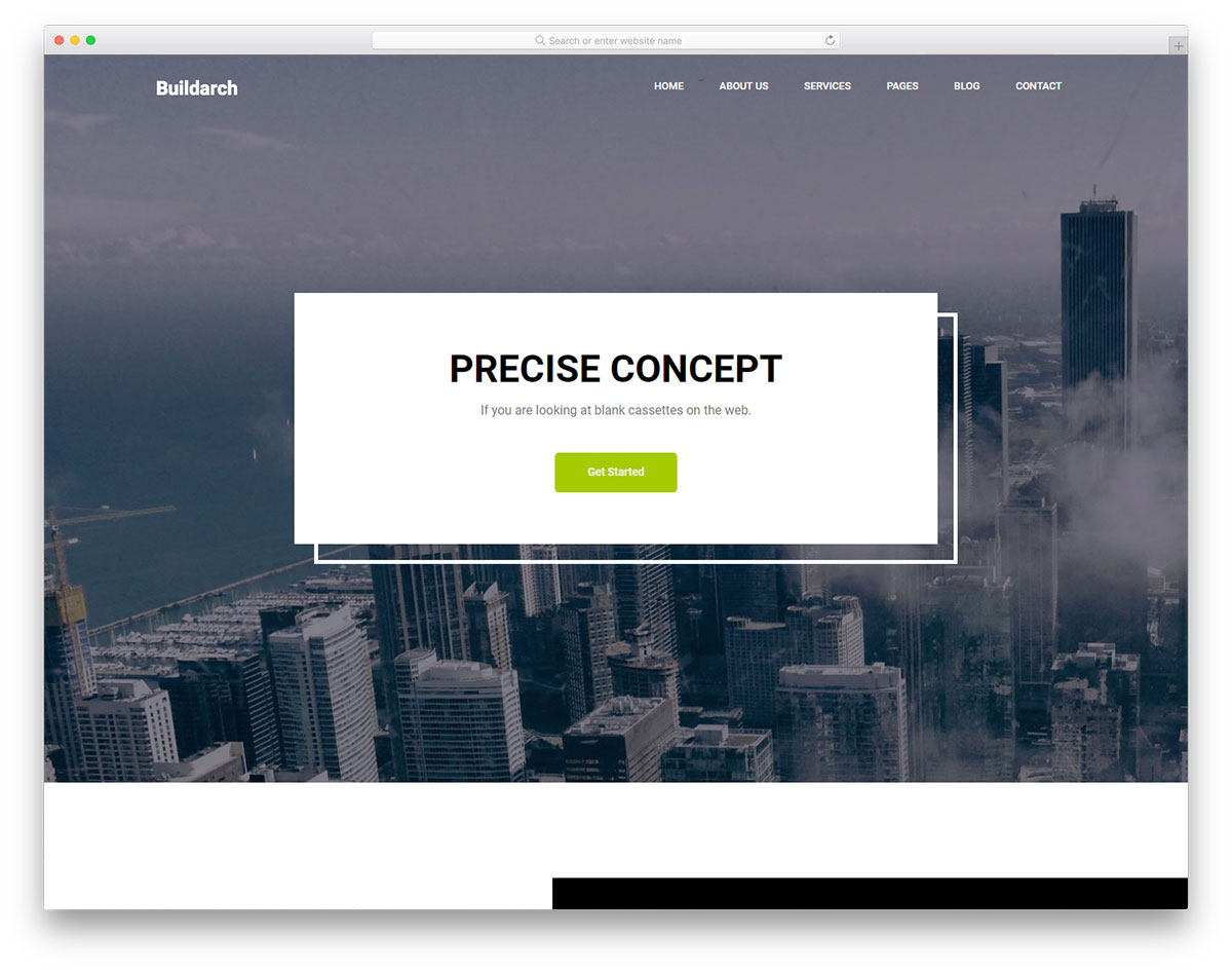 Скачать бесплатно html шаблон Buildarch