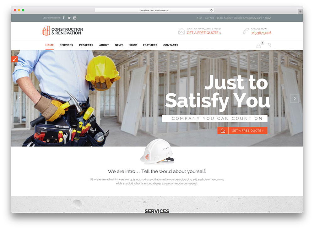 builder - construction company theme