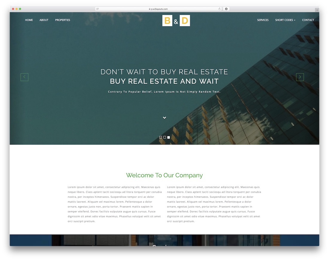 builders and developers free construction website template
