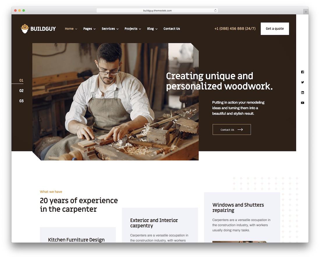 buildguy handyman wordpress theme