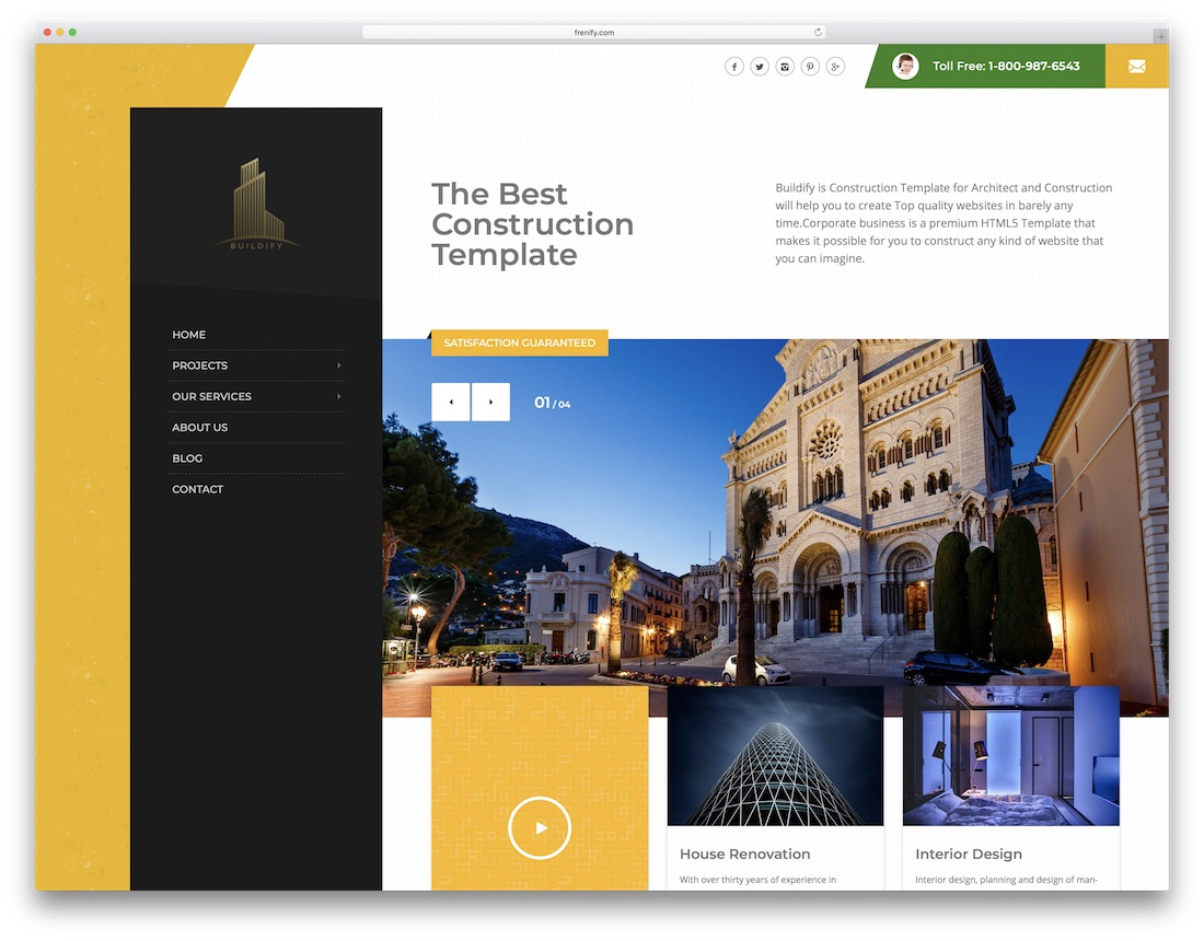 Superb Buildino Interior Design Website Template