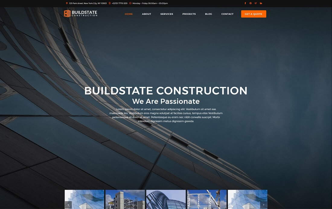 buildstate bootstrap business website template