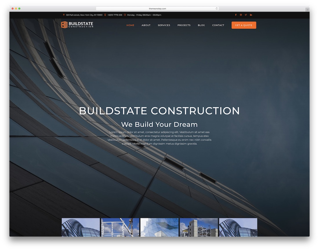 buildstate html construction company template