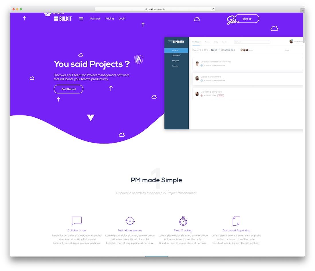 bulkit business website template