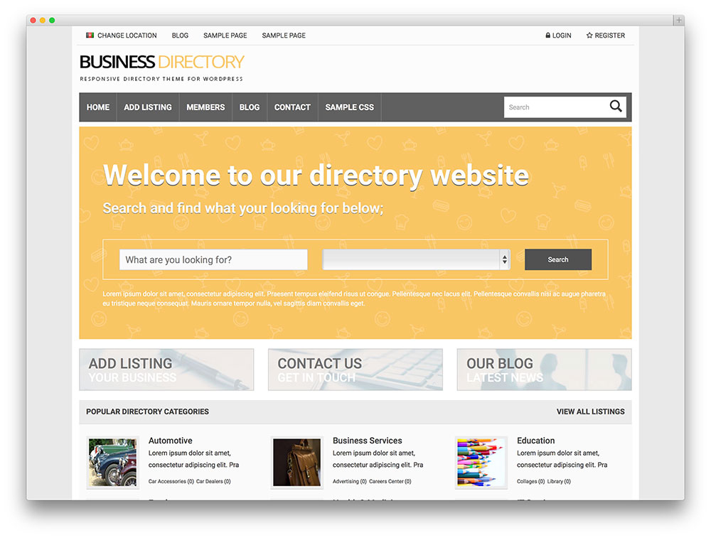 business directory - flat design theme