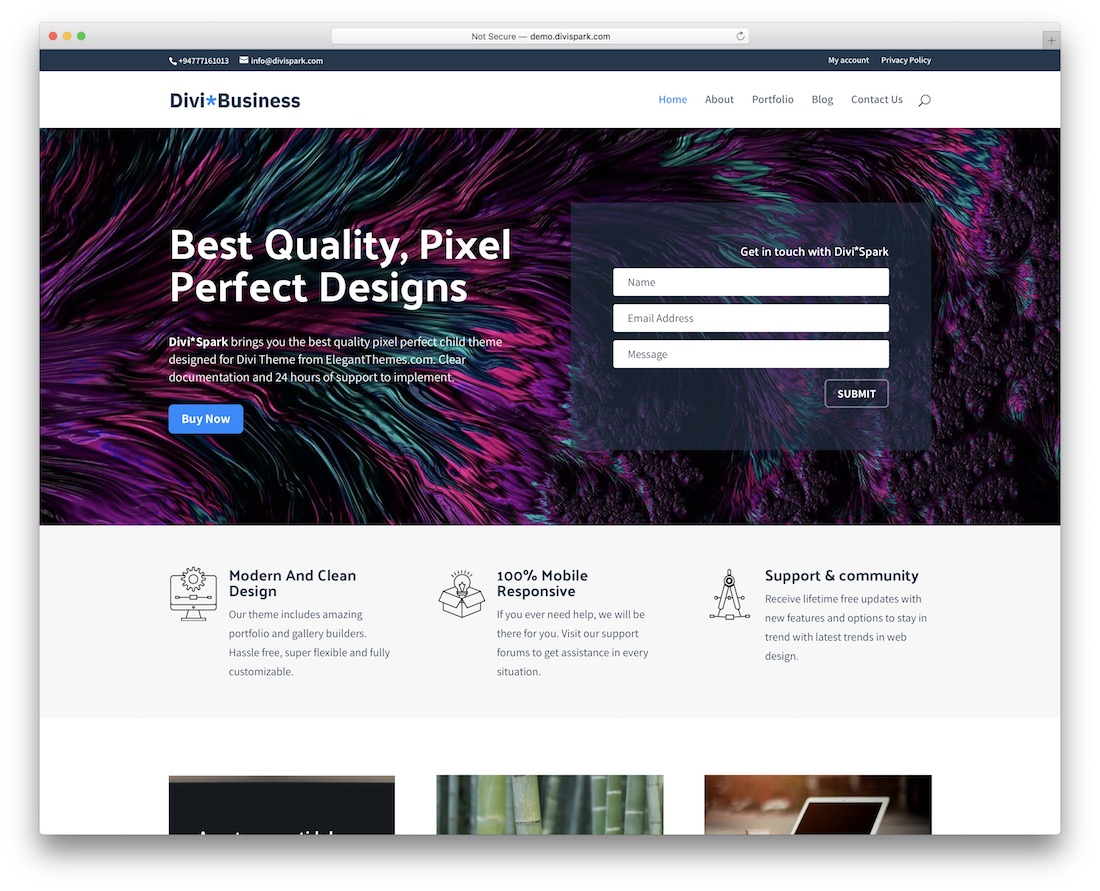 business divi child theme
