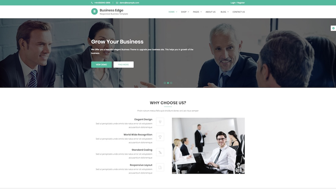 business edge consulting website template