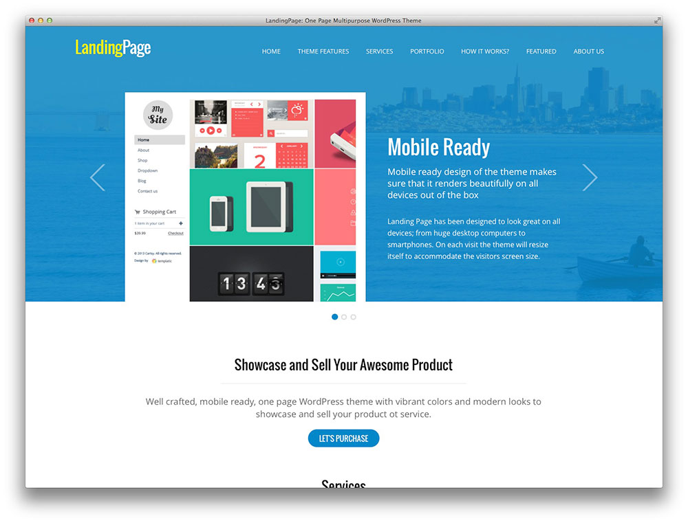Book Landing Page Template Templatic Landing Page Theme