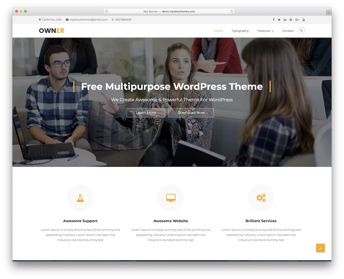business owner free wordpress theme