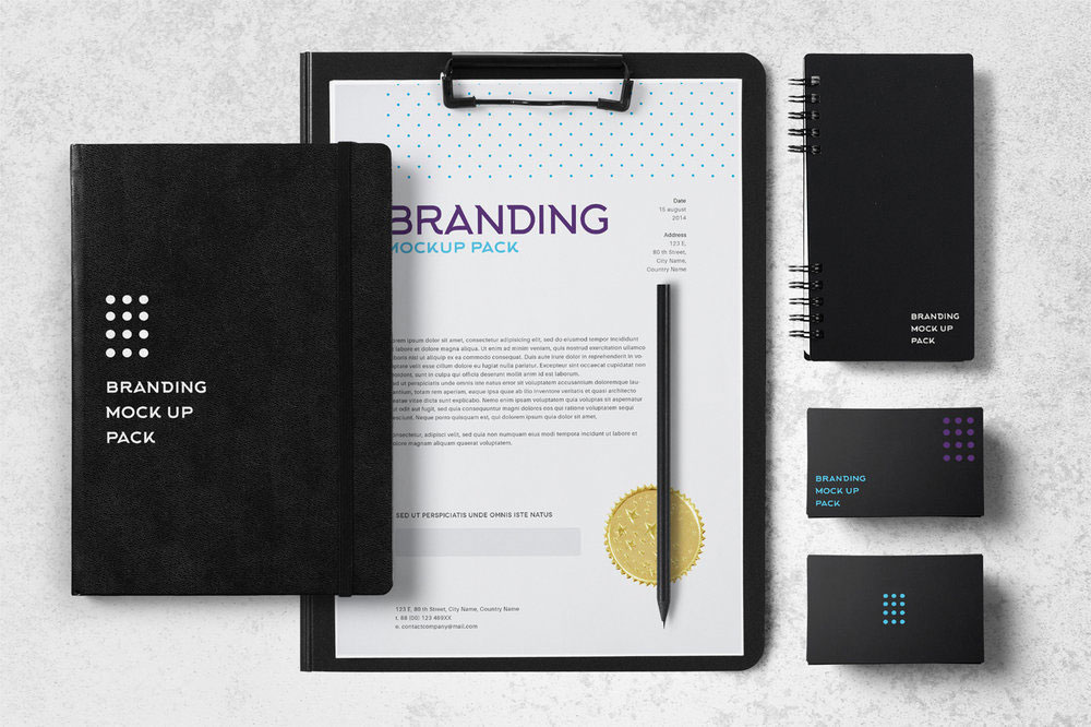 business stationery branding mockup
