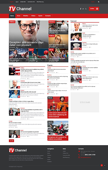 Top 40 Newest Business Wordpress Themes 2014 Colorlib
