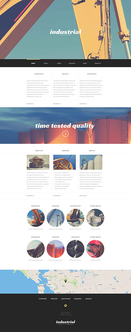 Industrial Construction WordPress Theme