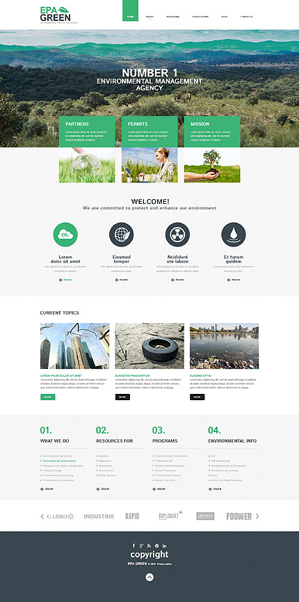 Environmental Responsive WordPress Theme