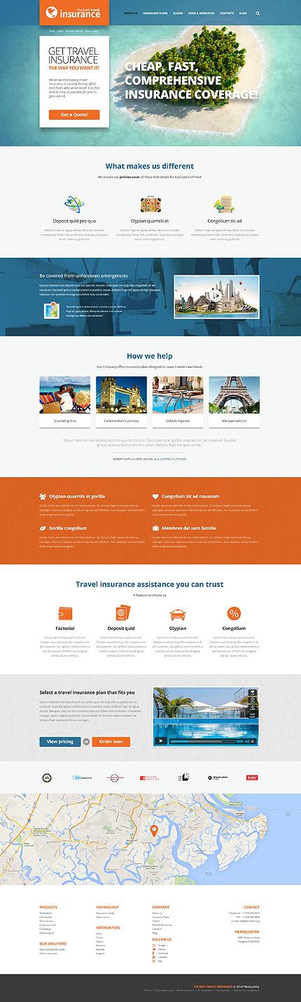 Travel Insurance Provider WordPress Theme