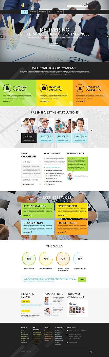 Safe Investment WordPress Theme
