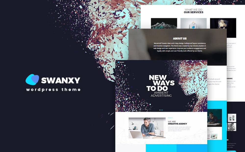 Swanxy: Creative Digital Agency WordPress Website