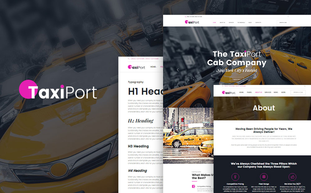 TaxiPort: Cab Company Responsive WordPress Template