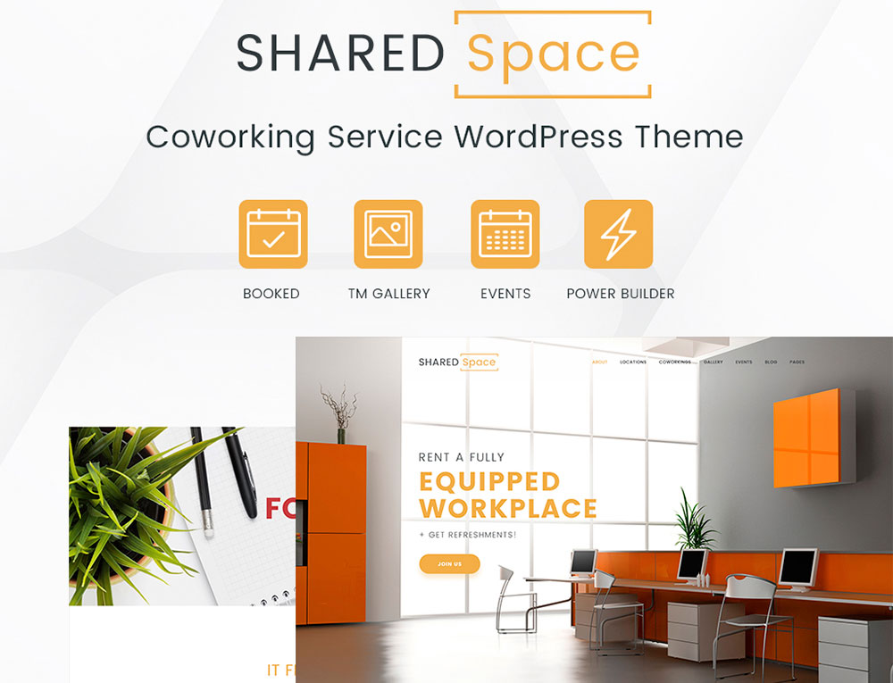 SharedSpace - Office WordPress Theme