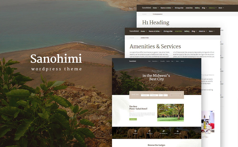 Sanohimi Exotic Hotel WordPress Template