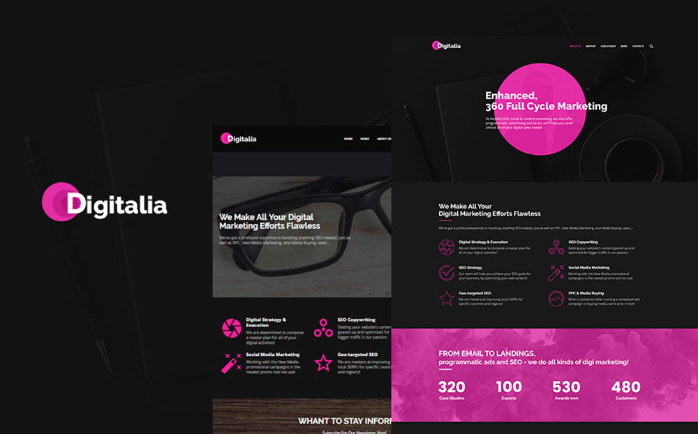 Marketing Company WordPress Theme