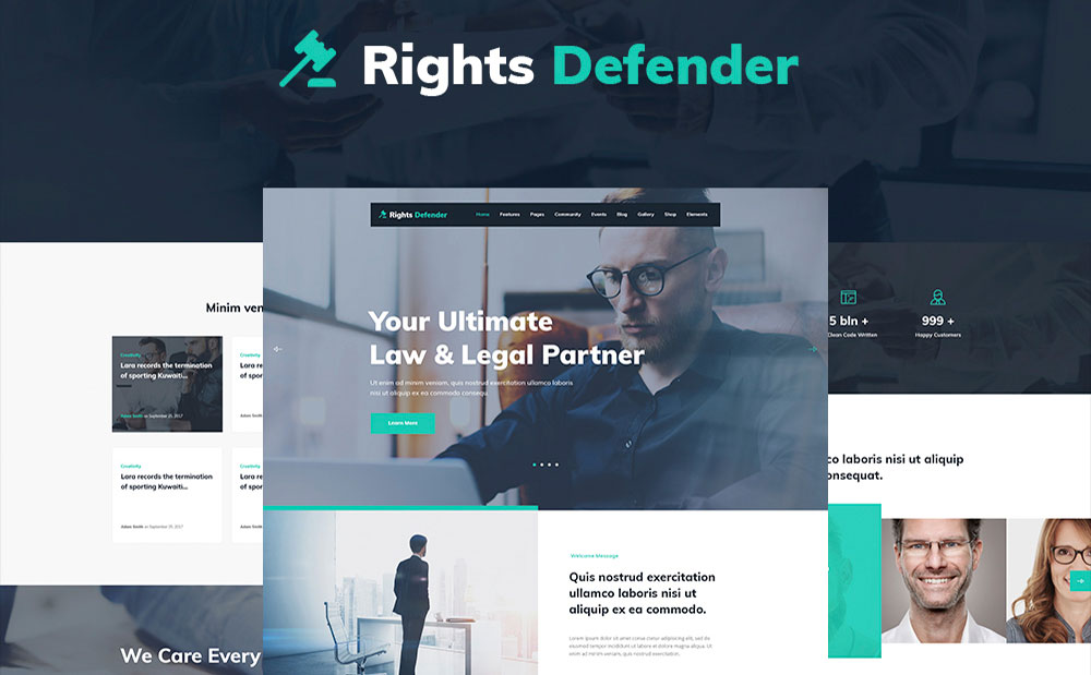 Lawyer Website WP Theme