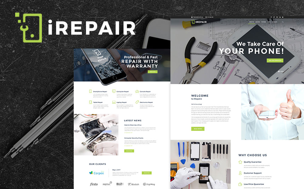 Electronics Repair Shop WordPress Theme