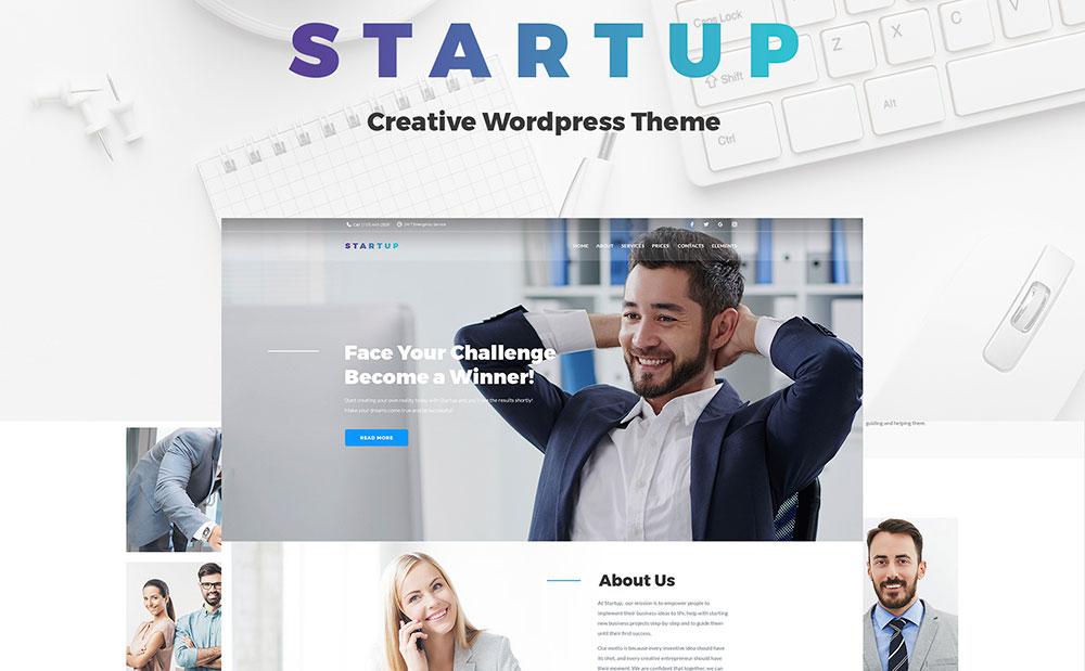 Startup Company WordPress Theme