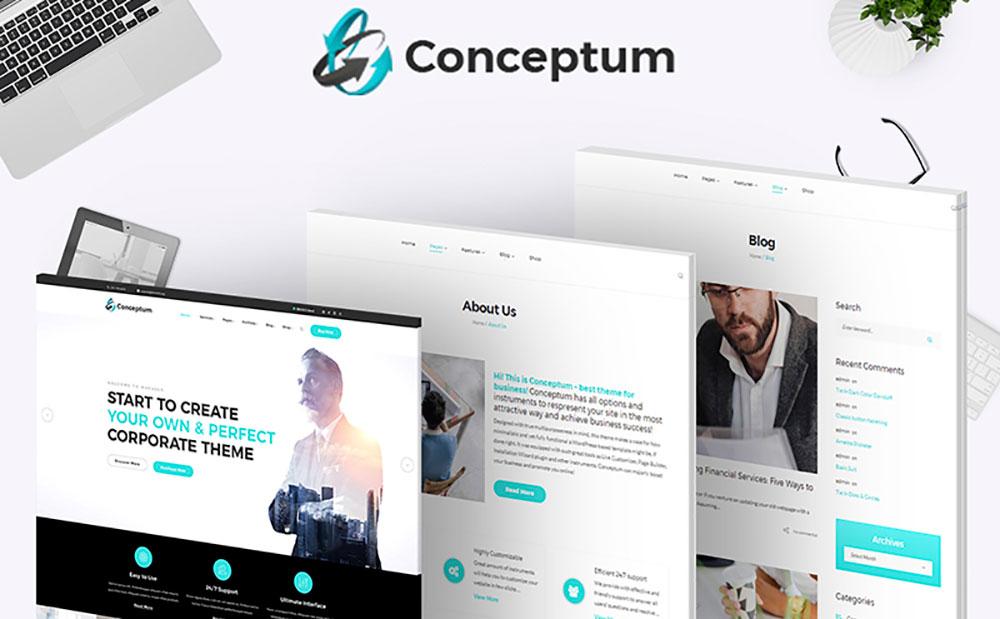 Conceptum - Corporate Responsive WordPress Theme