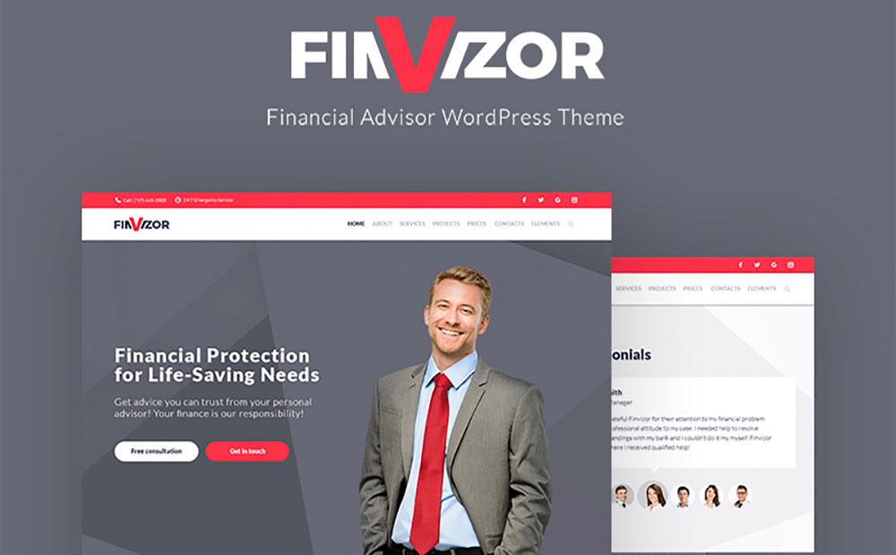 FinVisor Business Consultant WordPress Theme