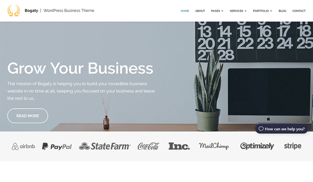 Bogaty: Modern Responsive WordPress Theme for Business Websites