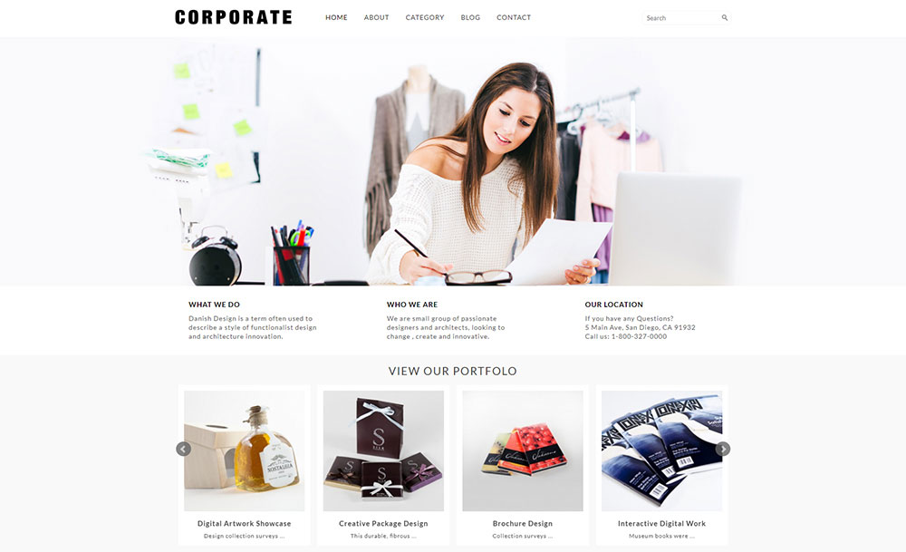 Pure and Lightweight Corporate WordPress Site Design